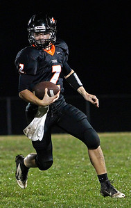 Brett Moist / For the Northwest Herald Crystal Lake Central Quarterback Kyle Lavand lead winning drive against Prairie Ridge at Crystal Lake Central High School on Friday, Sepetember 21, 2012. Crystal Lake Central defeated Prairie Ridge 7-3.