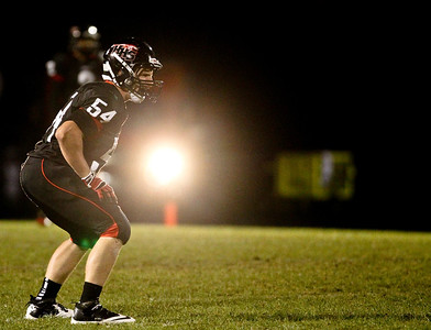 Josh Peckler - Jpeckler@shawmedia.com Huntley's Jordan Kabb lines up for the opening kickoff against Dundee Crown at Huntley High School Friday, September 21, 2012.