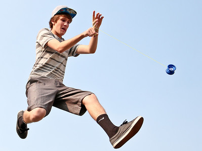 Josh Peckler - Jpeckler@shawmedia.com Dundee Crown golfer Shane Lubecker is a competitive YoYoer and travels all around the country competing in different yo-yo contest.   © Northwest Herald