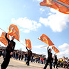 The St. Charles East color guard perform during the school's homecoming parade on Illinois Street Friday afternoon.(Sandy Bressner photo)