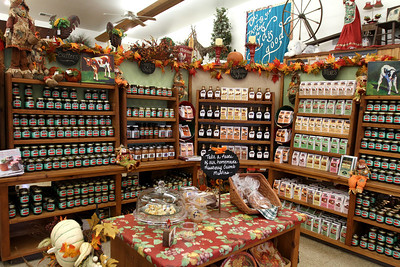 Mike Greene - mgreene@shawmedia.com Jars of jelly and other goods are arranged for prospective customers at the Royal Oak Farm Orchard market shop Tuesday, September 11, 2012 in Harvard. The orchard was hit hard by harsh weather conditions for harvesting this year, which resulted in losing nearly 70% of its crop.