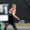 St. Charles East's Kelsie Robertson during her No. 1 doubles match with teammate Haydyn Jones (not pictured) against St. Charles North Tuesday at St. Charles North.(Sandy Bressner Photo)