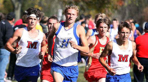 Jeff Krage – For the Kane County Chronicle<br /> Runners from Marmion Academy, Batavia and St. Charles North compete in Saturday's St. Charles North cross-country invite at Leroy Oakes Forest Preserve.<br /> St. Charles 9/29/12