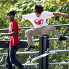 Jeff Krage – For the Kane County Chronicle<br /> Roger Staudenbaur of Montgomery competes Saturday during the Batavia Teen Center's third annual skateboard competition at Blackard Skate 'n' Bike Park.<br /> Batavia 9/29/12