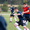 Marmion Academy junior defender Luke DeSimone of Batavia (center) practices with his team at the Aurora school Monday afternoon.