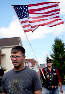Sarah Nader - snader@shawmedia.com Lance Corporal Jacob Savage of McHenry was welcomed home by the Warriors' Watch Riders on Saturday, September 8, 2012 after returning from his seven month tour in Afghanistan this week. Savage was stationed in Okinawa where he drove 7 ton trucks and humvees.