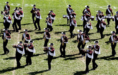 Sarah Nader - snader@shawmedia.com The Prairie Ridge marching band performs during the 5th annual McHenry High School Marching Band Festival at McCracken Field in McHenry on Saturday, September 8, 2012.