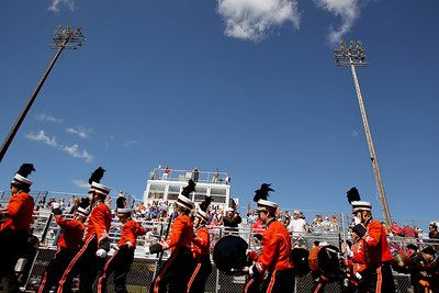 Sarah Nader - snader@shawmedia.com The Crystal Lake Central marching band walks off the field after performing at the 5th annual McHenry High School Marching Band Festival at McCracken Field in McHenry on Saturday, September 8, 2012.