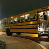 Jeff Krage – For Shaw Media<br /> St. Charles North school buses prepare to take St. Charles North football players back to St. Charles after Friday's game at Elk Grove was cancelled due to lightning.<br /> Elk Grove 8/30/13
