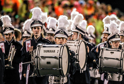 Sarah Nader- snader@shawmedia.com The Cary-Grove Marching Band gets ready for their half-time performance during Friday's football game against Dundee-Crown In Cary September 20, 2013. Cary-Grove defeated Dundee-Crown, 34-0.