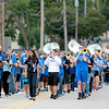 The St. Charles North High School band plays during their annual homecoming parade on Illinois Street Friday afternoon.
