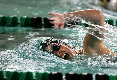 Kyle Grillot kgrillot@shawmedia.com  Cary-Grove freshman Karsen Seeger competes in the 100-yard freestyle race during the Woodstock North girls swimming invite Saturday, September 21, 2013.
