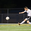 Geneva's midfielder Matt Waldoch (15) puts up a shot on goal against Kaneland at Geneva High School in Geneva, IL on Monday, September 23, 2013 (Sean King for Shaw Media)