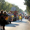 Floats travel on Wilson Street for the Batavia High School homecoming parade Wednesday evening.