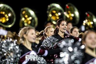 Sarah Nader- snader@shawmedia.com Prairie Ridge's varsity Poms performs during half time at Friday's football game against Cary-Grove September 27, 2013.