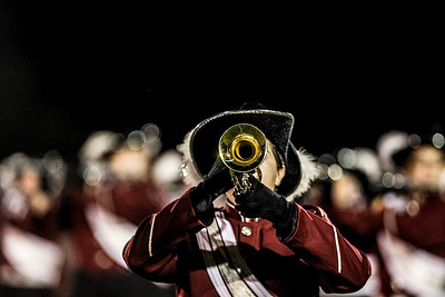 Sarah Nader- snader@shawmedia.com The Prairie Ridge marching band performs during half time at Friday's football game against Cary-Grove September 27, 2013.