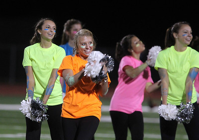 H. Rick Bamman - hbamman@shawmedia.com Huntley Poms perform at halftime.
