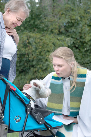 Pet blessing ceremony held at Lombard Veterinary Hospital
