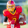 Batavia Wide Receiver Canaan Coffey (3) runs with the ball after a reception against Oswego at Batavia High School in Batavia, IL on Saturday, August 30, 2014 (Sean King for Shaw Media)