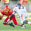 Batavia cornerback Matt Fabian (39) recovers an Oswego fumble at Batavia High School in Batavia, IL on Saturday, August 30, 2014 (Sean King for Shaw Media)
