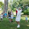 "Ben Jimenez of Evanston, AKA ""Ben the Bubble Guy"" entertains during the Fox Valley Folk Music and Storytelling Festival at Island Park in Geneva, IL on Sunday, September 06, 2015 (Sean King for Shaw Media)"