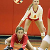 Batavia's Peyton Sachse digs the ball during a match against visiting St. Charles East on Sept. 6.