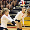 St. Charles East's Anna Skryd bumps the ball during a match at Batavia on Sept. 6.