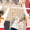 St. Charles East's Emily Schildmeyer gets a kill during a match at Batavia on Sept. 6.