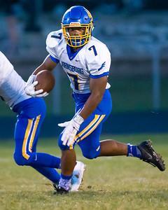 Johnsburg's Alex Peete  surveys the filed Friday, Sept. 9, 2016 at Richmond-Burton High School in Richmond. Johnsburg went on to defeat Richmond 53-0.