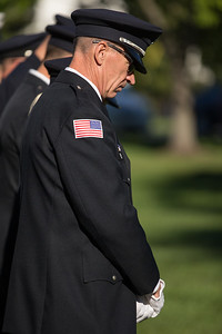 A moment of silence is observed Sunday at 9:05 am on Sept.11, 2016, marking the time when the South Tower collapsed at the World Trade Center during the remembrance ceremony at Veterans Memorial Park in McHenry.  KKoontz for Shaw Media