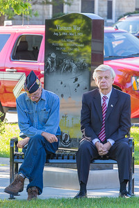 A moment of reflection and thought Sunday, Sept.11, 2016 at Veterans Memorial Park in McHenry during the September 11th, 2001 remembrance ceremony. KKoontz for Shaw Media