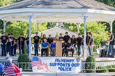 The McHenry High School Choir performs Sunday, Sept. 11, 2016 at Veterans Memorial Park in McHenry during the September 11th, 2001 remembrance ceremony. KKoontz for Shaw Media