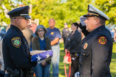 The American flag is presented Sunday, Sept.11, 2016 at Veterans Memorial Park in McHenry during the September 11th, 2001 remembrance ceremony.  KKoontz for Shaw Media