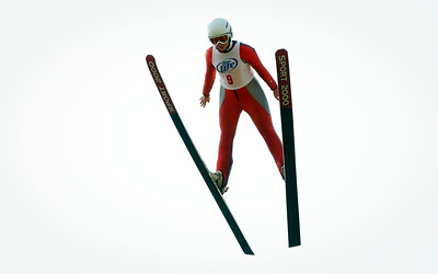 Cara Larson, with the Norge Ski Club flies through the air during the 31st Annual Norge Autumn Ski Jump on Sunday, September 25, 2016 in Fox River Grove. John Konstantaras – For Shaw Media
