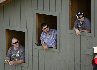Judges wait for the next jumper during the 31st Annual Norge Autumn Ski Jump on Sunday, September 25, 2016 in Fox River Grove. John Konstantaras – For Shaw Media