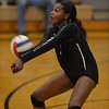 Kaneland's Sheika Mushunduzi picks up a hit in the Knights' 25-13, 25-19 win over Aurora Christian Sept. 22 in Maple Park.