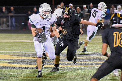 Glenbard West line back, Dominick Ficarella, gains yards during the game at Hinsdale South on Friday, September 2nd. Lorae Mundt for  Shaw Media