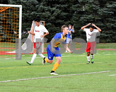 Lyons Township senior Alec Gilcgrist is all smiles after scoring the second goal in the second half of Friday's game against Hinsdale Central that ties up the game 2 goals apiece. David Toney for Shaw Media