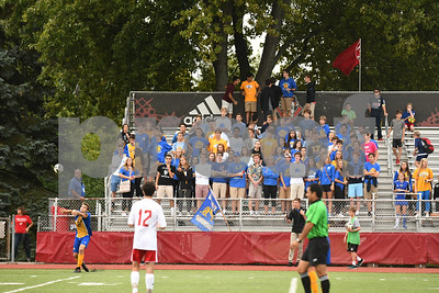 Lyons Township fans watch as Dylan Jones throws the ball in play in the first half of Friday's game against Hinsdale Central. David Toney for Shaw Media
