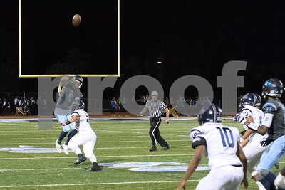 Downers Grove South's quarterback, Matt Greenwald, makes a pass during the game against Addison Trail on Friday, September 16th. Lorae Mundt for Shaw Media