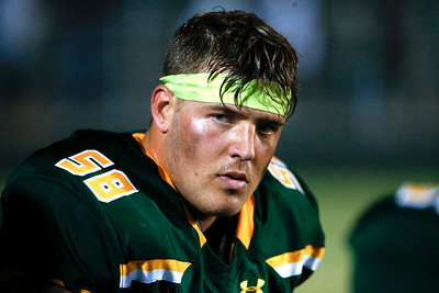 Trevor Keegan (58) from Crystal Lake South during their game against Crystal Lake Central at Crystal Lake South High School on Friday, September 1, 2017 in Crystal Lake, Illinois. John Konstantaras photo for Shaw Media