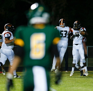 Daniel Manning (4) from Crystal Lake Central celebrate his touchdown during the second quarter of their game against Crystal Lake South on Friday, September 1, 2017 in Crystal Lake, Illinois. John Konstantaras photo for Shaw Media