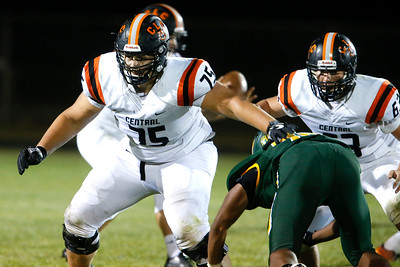 Wyatt Blake (75) from Crystal Lake Central during their game against Crystal Lake South on Friday, September 1, 2017 in Crystal Lake, Illinois. John Konstantaras photo for Shaw Media