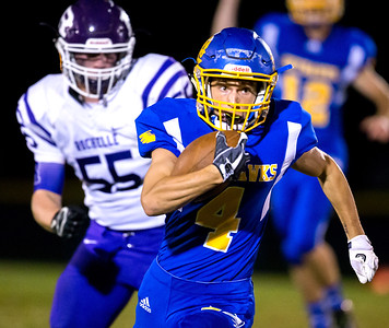 Johnsburg's Trent Hauck heads into the end zone for the touchdown Friday, September 1, 2017 at Johnsburg High School in Johnsburg. Johnsburg went on to a 40-22 win over a tough Rochelle team. KKoontz – for Shaw Media