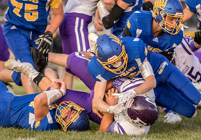 Johnsburg's defense had their hands full against a hard running Rochelle team Friday, September 1, 2017 at Johnsburg High School in Johnsburg. Johnsburg went on to win 40-22. KKoontz – for Shaw Media