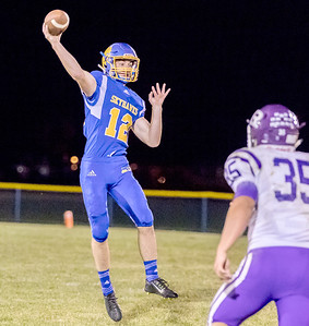 Johnsburg's Adam Jayko throws on the run Friday, September 1, 2017 at Johnsburg High School in Johnsburg. Johnsburg went on to a 40-22 win over a tough Rochelle team. KKoontz – for Shaw Media