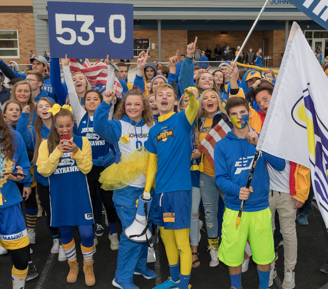 """The Johnsburg """"Superfans"""" were ready for the big game against rival Richmond Burton Friday, September 8, 2017 at Johnsburg High School in Johnsburg. Johnsburg went on to win 34-10. KKoontz- For Shaw Media"""