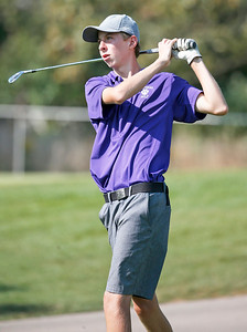 Hampshire's Mark Spitzer tees off during the Dundee-Crown Charger Boys Golf Invitational at Randall Oaks Golf Club on Saturday, 9/16/17 in West Dundee, Illinois. John Konstantaras photo for Shaw Media