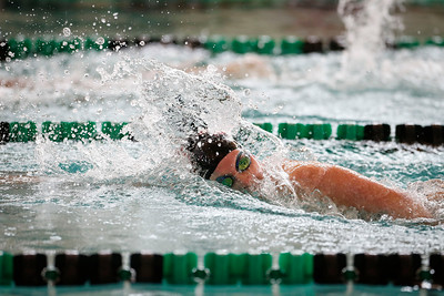 Allison Cravens, from Huntley, swims the 200 yard freestyle during the Woodstock Swimming Invite at Woodstock North High School on Saturday, 9/16/17 in Woodstock, Illinois. John Konstantaras photo for Shaw Media