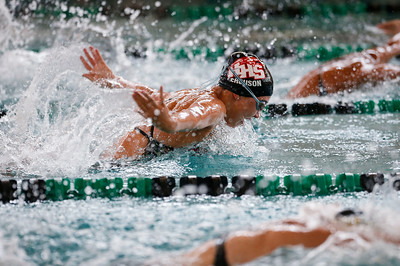Lindsey Ferguson, from Huntley, swims the butterfly in the 200 yard IM during the Woodstock Swimming Invite at Woodstock North High School on Saturday, 9/16/17 in Woodstock, Illinois. John Konstantaras photo for Shaw Media